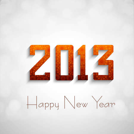 New year 2013 circle white background Vector  Stock Vector - 17679637