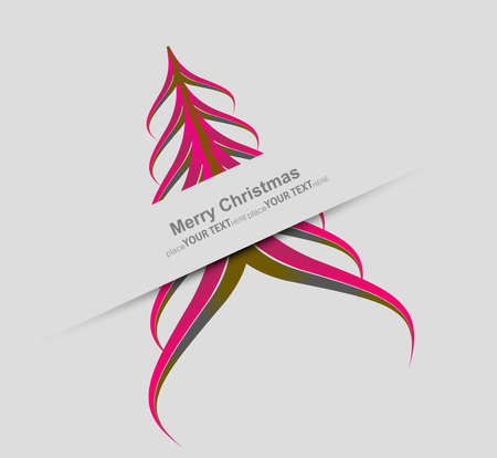 merry christmas stylish tree colorful vector design Stock Vector - 17789331