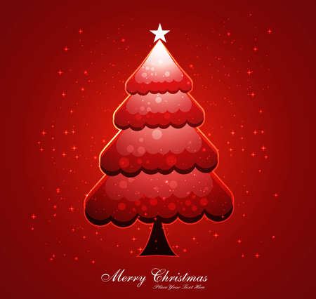 merry christmas tree background  Stock Vector - 17789547