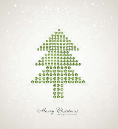 Merry christmas stylish tree colorful whit background  Vector