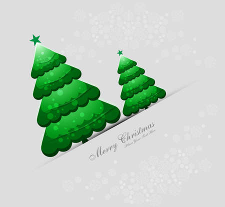 merry christmas green tree card colorful Stock Vector - 17789771