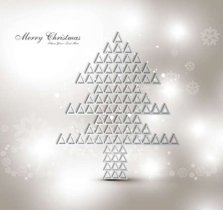 merry christmas stylish tree card background  Stock Vector - 17789776