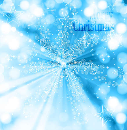 merry christmas snowflakes blue colorful background Stock Vector - 17789768