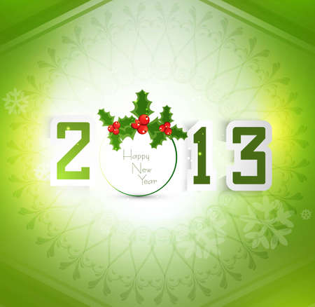 thirteen: New year stylish 2013 green colorful fantastic