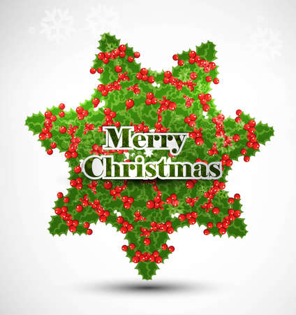 whit: Merry Christmas colorful card whit background Illustration