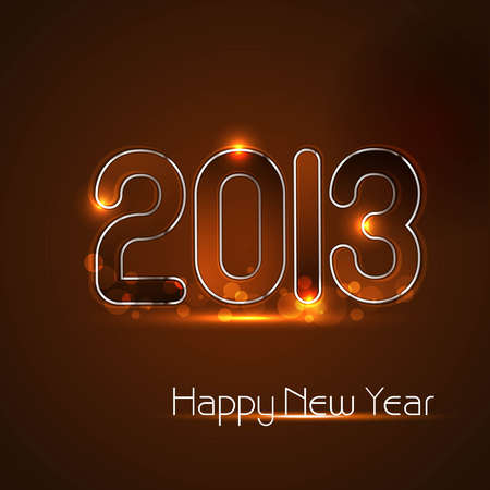 Happy new year glossy 2013 colorful celebration design Stock Vector - 17789885
