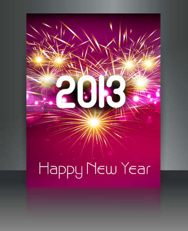 thirteen: 2013 new year celebration colorful gift card design