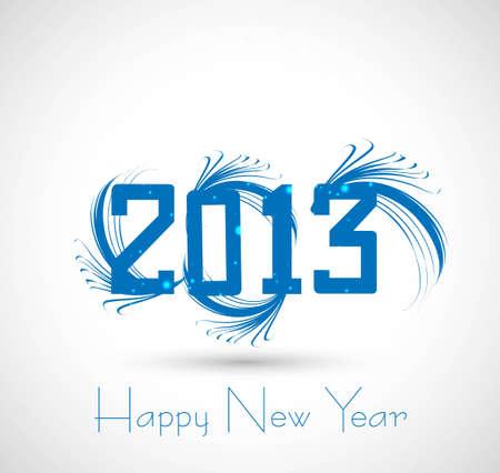 twenty thirteen: new year 2013  artistic white background