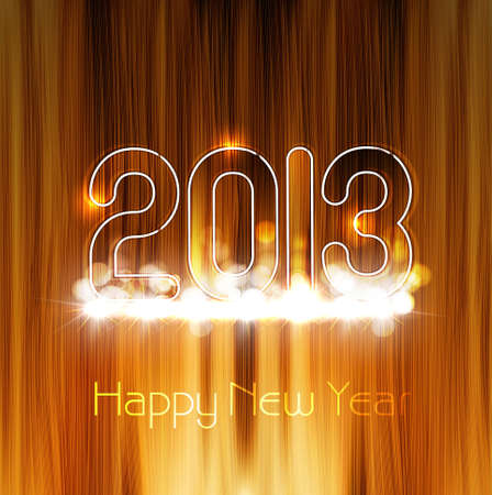 2013 new year glossy wood texture celebration colorful background Stock Vector - 17789939
