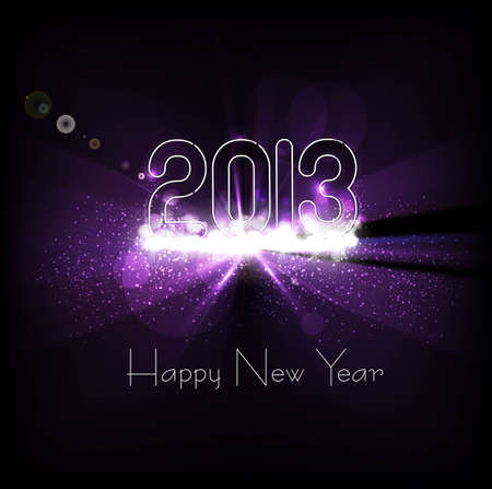 New year 2013 background for shiny swirl colorful wave background Stock Vector - 17790790