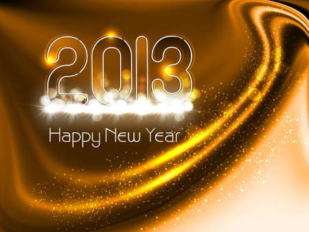 new year 2013 in glossy bright colorful background illustration Stock Vector - 17790792