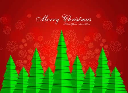 merry christmas stylish green tree background  Stock Vector - 17790789