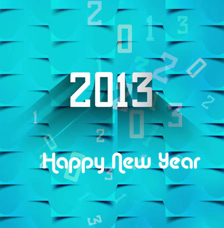 New year 2013 background for blue texture colorful Stock Vector - 17790795