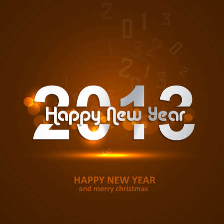 Happy new year glossy 2013 colorful background