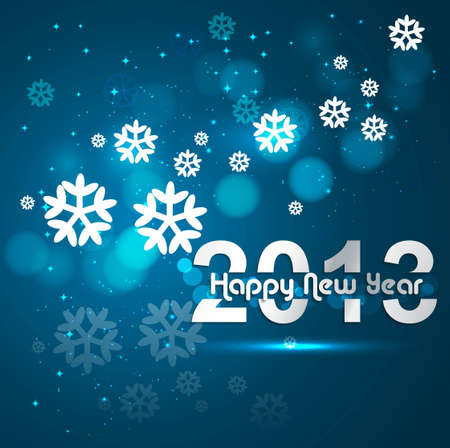 Happy new year 2013 blue colorful celebration design Stock Vector - 17791427