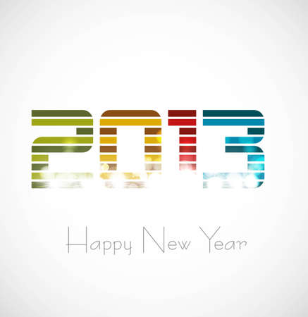 New year 2013 circle white background design Stock Vector - 17791642