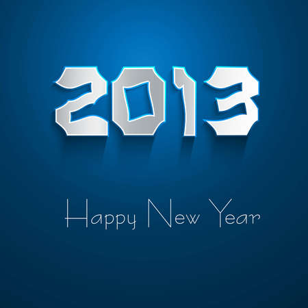 New year stylish 2013 blue colorful background Stock Vector - 17791429
