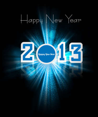 Happy new year 2013 colorful celebration holiday background Vector