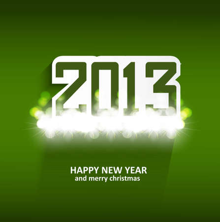 twenty thirteen: illustration of New Year 2013 green colorful celebration holiday vector Illustration