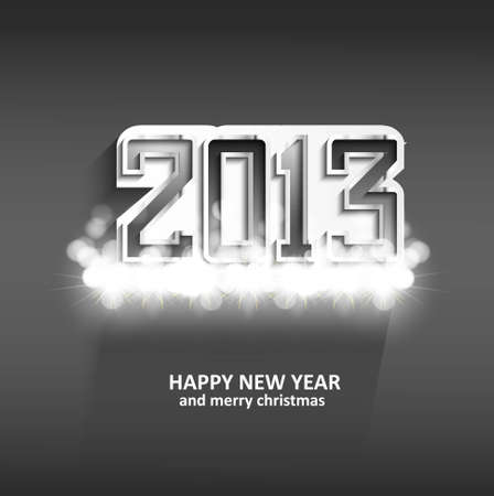 new year 2013 shiny glossy metal design Vector