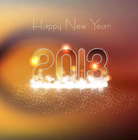 new year 2013 glossy colorful illustration Stock Vector - 17945521