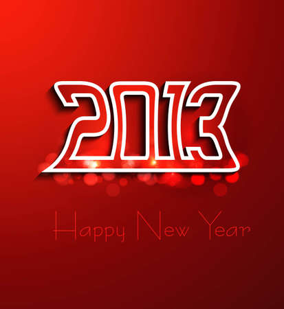 new year 2013 creative design vector Stock Vector - 17945712