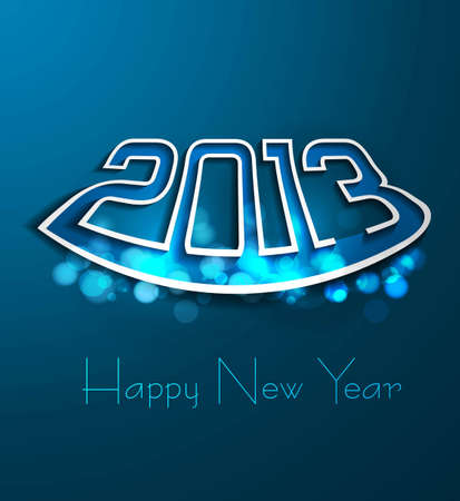 new year blue colorful 2013 fantastic background vector