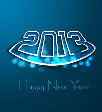 twenty thirteen: new year blue colorful 2013 fantastic background vector