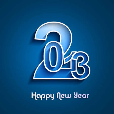 new year 2013 creative blue colorful vector Stock Vector - 17945718