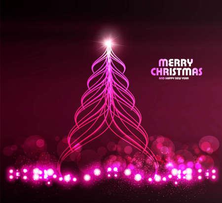 merry christmas stylish shiny tree colorful background Stock Vector - 17945716