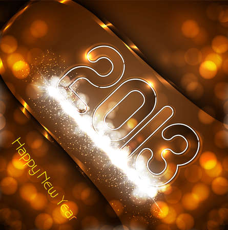 New year 2013 background colorful fantastic design Stock Vector - 17945855