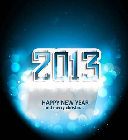 2013 Happy New Year celebration background  Vector