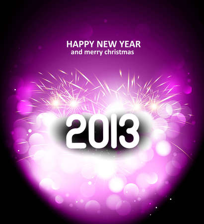 Happy New Year 2013 holiday vector card Stock Vector - 17945725