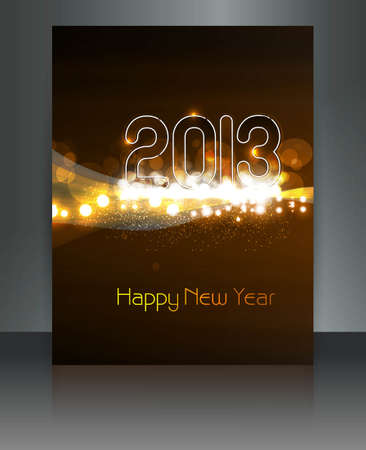 2013 new year celebration bright colorful brochure card design Stock Vector - 17945870