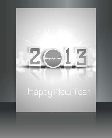 2013 new year celebration brochure design Stock Vector - 17945863