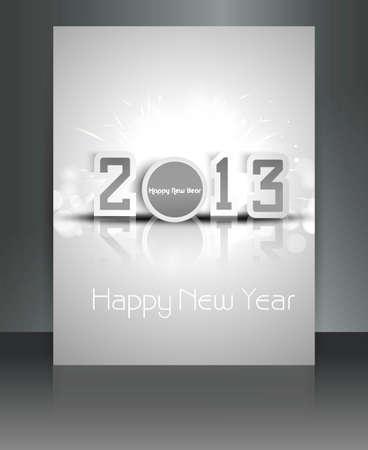 2013 new year celebration brochure design Stock Vector - 17945863