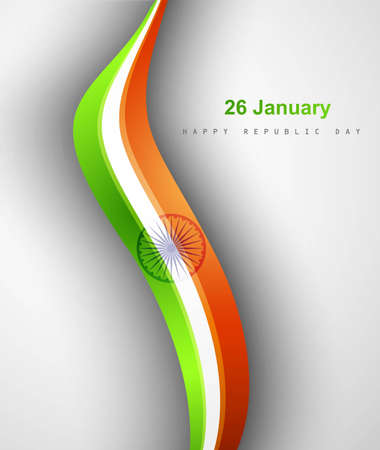 Indian flag stylish tricolor wave vector design Stock Vector - 17945960