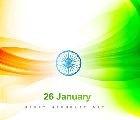 Indian flag color background with wave for Republic Day design vector Stock Vector - 17945957