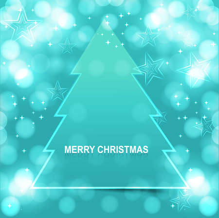 merry christmas tree bright colorful blue Vector design Stock Vector - 17946049