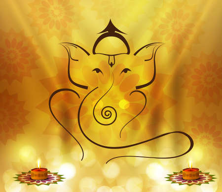ganesha: Beautiful Artistic colorful Hindu Lord Ganesha design