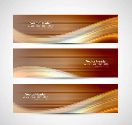 Abstract header bright colorful wave vector design Stock Vector - 17946035