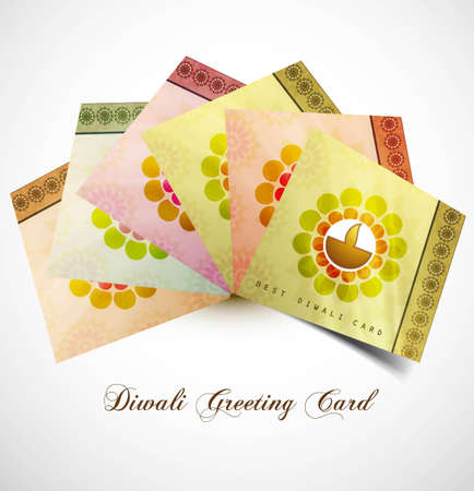 happy diwali greeting card stylish colorful vector design Stock Vector - 18000429