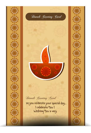 happy diwali greeting card stylish colorful background vector illustration Vector