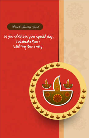 happy diwali greeting card stylish colorful background  Vector