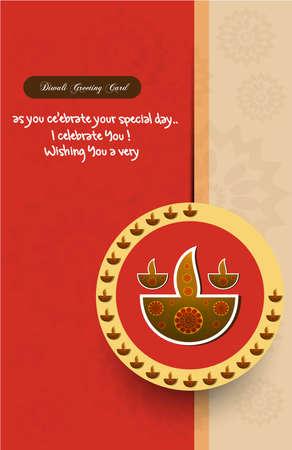 Happy Diwali tarjeta de felicitación elegante de colores de fondo Foto de archivo - 18000411