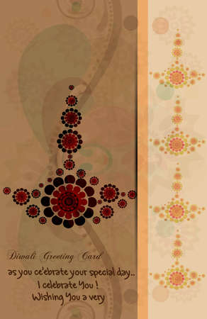happy diwali card artistic diya colorful vector design Vector