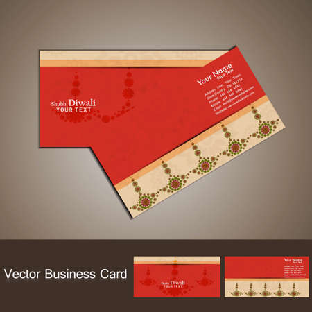 business card set happy diwali colorful vector design Vector
