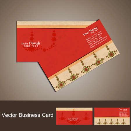 business card set happy diwali colorful vector design Stock Vector - 18000406