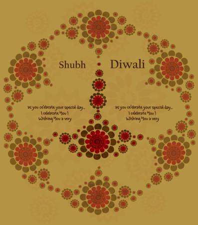 happy diwali artistic card colorful vector design Stock Vector - 18026018