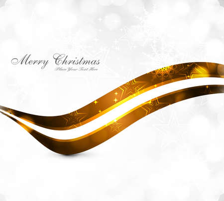 merry christmas celebration card colorful wave background  Stock Vector - 18026011